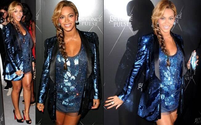 Beyoncé no lançamento de seu perfume Pulse