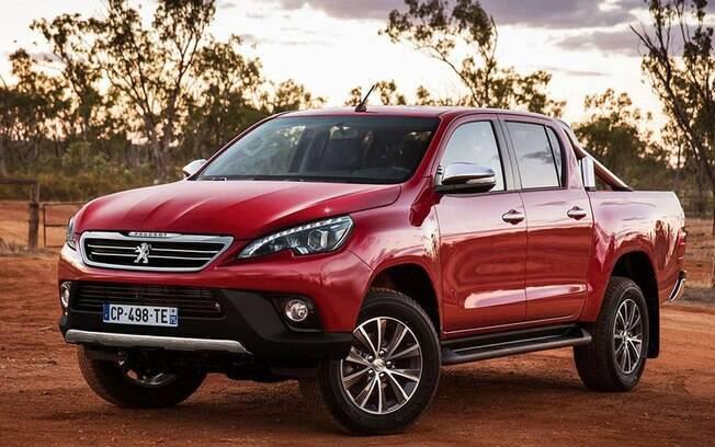 Projeção da nova picape da Peugeot feita por X-Tomi Design, aproveitando a informação de que a caminhonete deve utilizar a mesma plataforma que a Toyota Hilux.