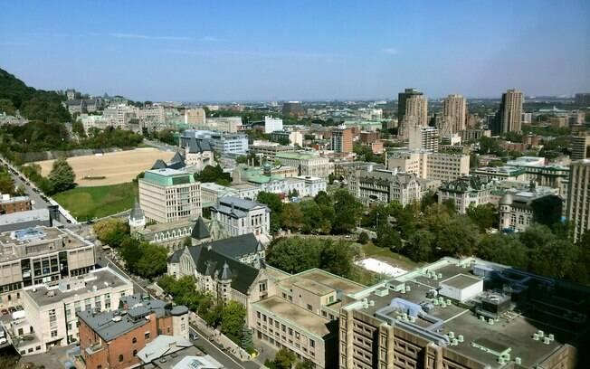 Vista da cidade de Montreal, um pouquinho da Europa na América do Norte