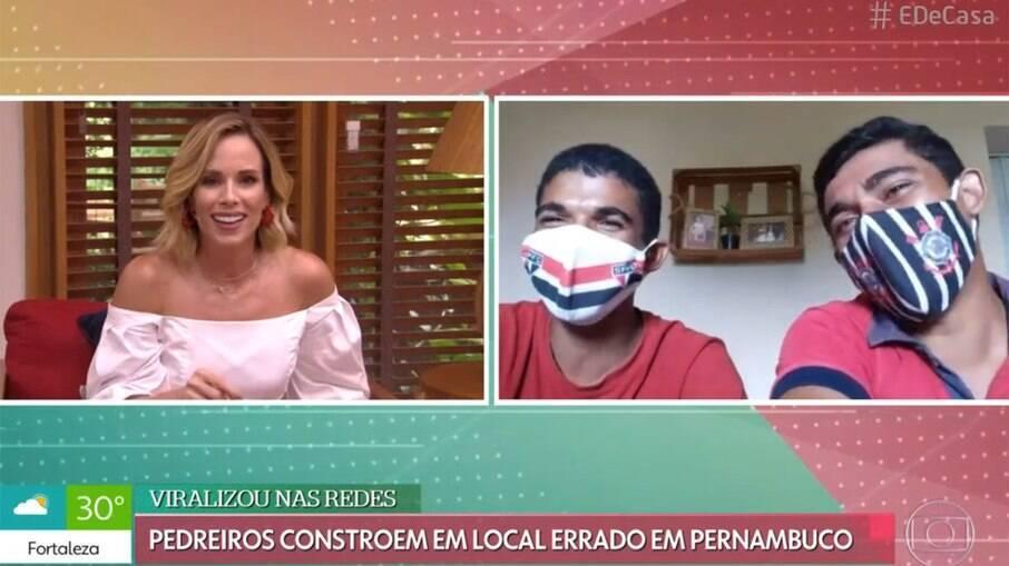 Ana Furtado dá bronca em entrevistados