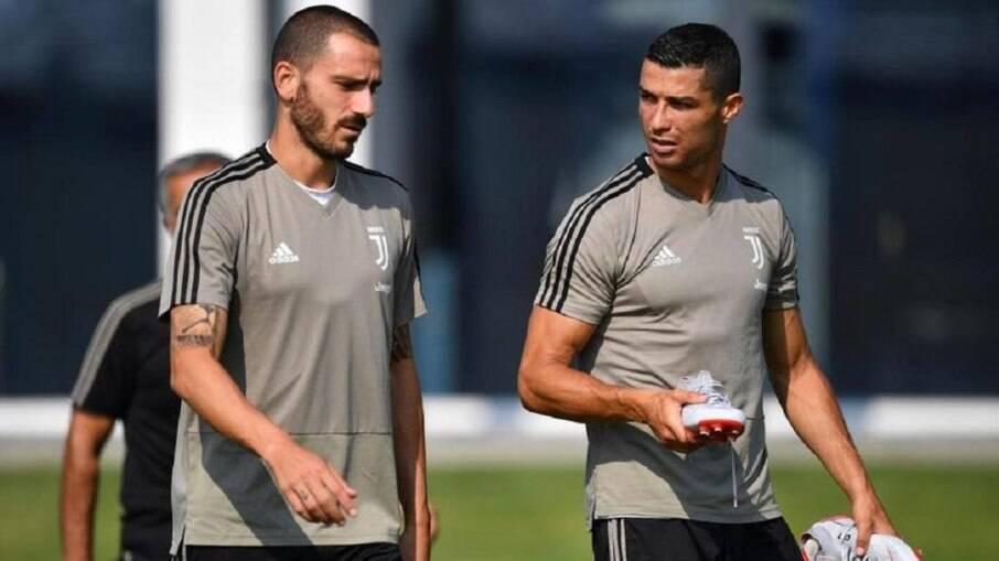 Bonucci e Cristiano Ronaldo