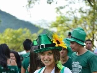 Cidadades - Belo Horizonte -  Minas Gerais 9 edicao da Festa de St Patrick`s Day 2015 no Parque das Mangabeiras na foto: Sarkya Barreiros  Foto: Uarlen Valerio/ O Tempo 14-03-2015