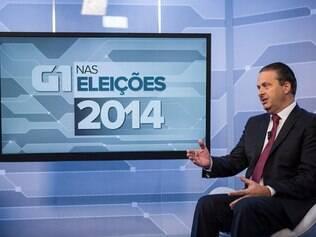 Eduardo Campos participou de sabatina com jornalistas do portal G1, no dia 11 de agosto.