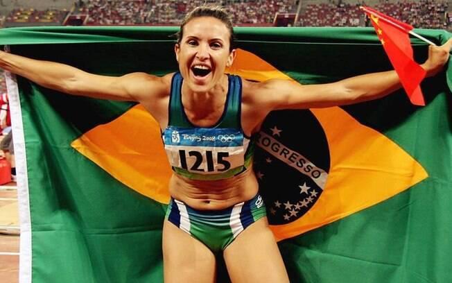 Maurren Maggi: lesionada e sem índice, a campeã olímpica do salto em distância optou pela aposentadoria. Foto: Reprodução Facebook