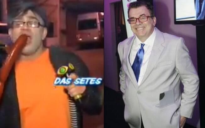 Evandro Santos como Walcyr Churrasco e Walcyr Carrasco