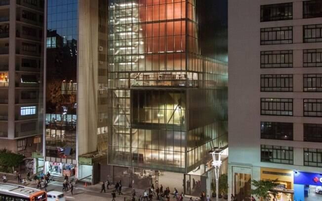 Instituto Moreira Salles coroando o final da Avenida Paulista