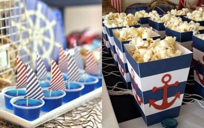 Além da cor das próprias comidinhas para festa, o local onde salgados e doces serão servidos podem seguir a decoração