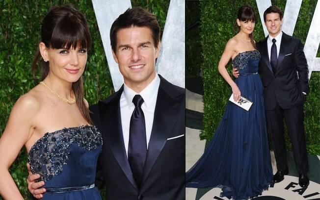 """Katie Holmes e Tom Cruise na festa pós-Oscar da revista """"Vanity Fair"""""""