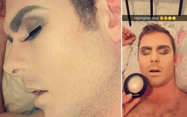 Jovem resolve se vingar de namorado passando maquiagem e aplicando unhas postiças nele
