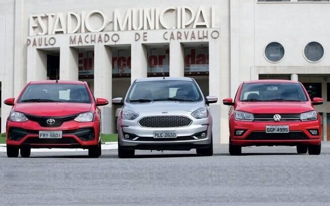 Ford Ka x VW Gol x Toyota Etios