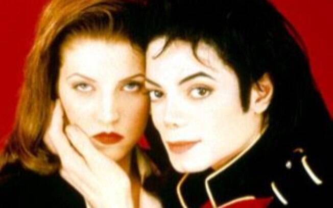 Michael Jackson e sua ex-mulher Lisa Marie Presley