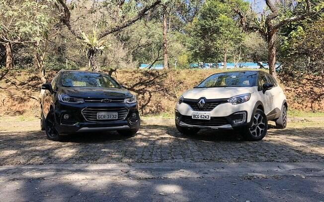 Chevrolet Tracker e Renault Captur nas versões bem equipadas ainda têm atrativos para quem quer um SUV compacto
