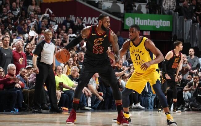 LeBron James resolveu mais uma vez e comandou o Cleveland Cavaliers na vitória sobre o  Indiana Pacers no jogo 7