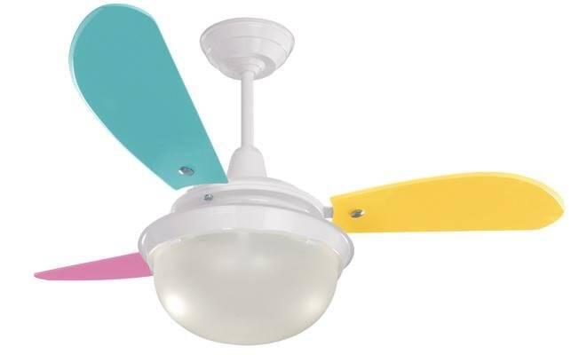 Ventilador de teto ajuda a espantar o calor e ainda decora o ambiente