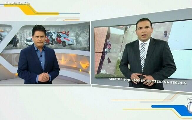 Gottino e César Filho dividindo a programação da Record TV