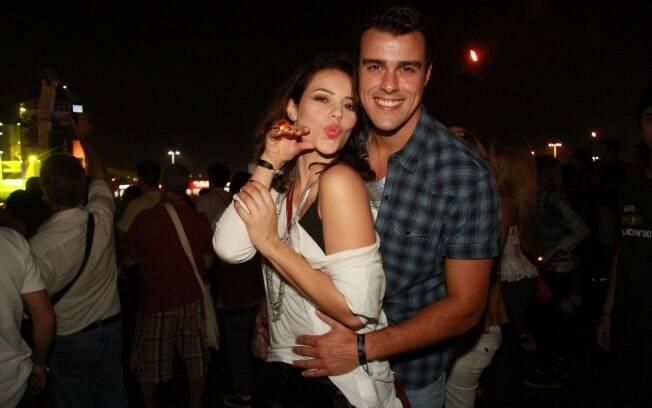 Paola Oliveira e Joaquim Lopes no Rock in Rio