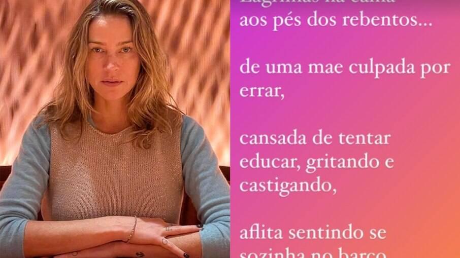 Luana Piovani faz desabafo sobre maternidade
