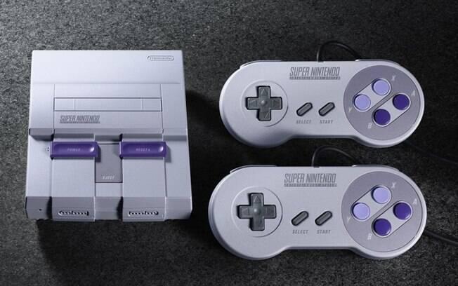 Super Nintendo será lançado em duas versões: modelo com detalhes em roxo voltado para os EUA deverá chegar ao Brasil
