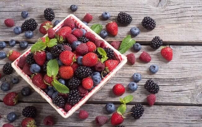 Frutas vermelhas ajudam na dieta e também no bem-estar