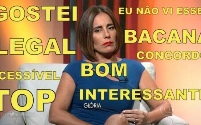 A estreia de Glória Pires na transmissão do Oscar na Globo virou piada no Twitter