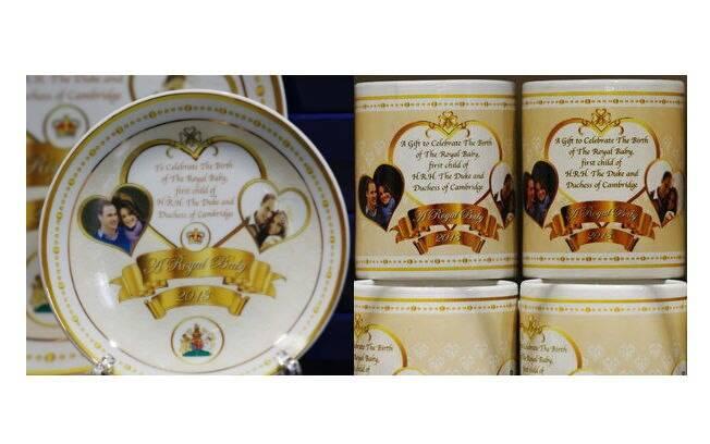 Mesmo sem saber o nome e o sexo do bebê, lojas britânicas já começaram a vender souvenirs do novo herdeiro real