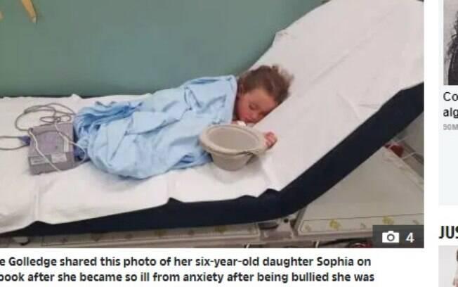 Sophie sofria bullying na escola onde estudava