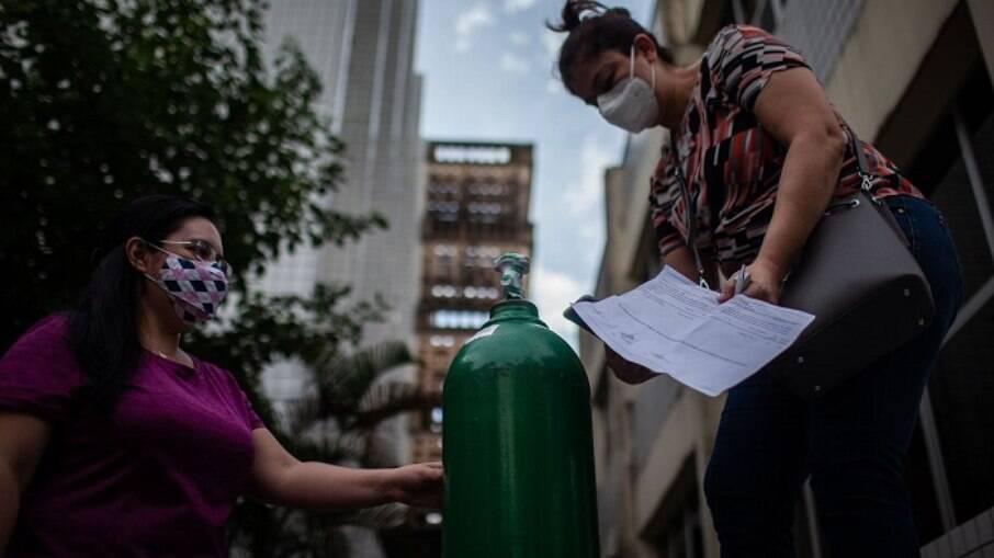 Tribunal de Justiça do Amazonas (TJAM) disponibilizou cilindros de oxigênio para enfrentar crise no estado