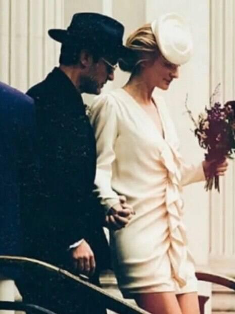 Phillipa Coan em seu casamento