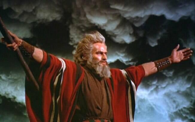 'Os Dez Mandamentos', um dos maiores sucessos entre os filmes bíblicos, foi lançado em 1956 por Cecil B. DeMille. Foto: Divulgação