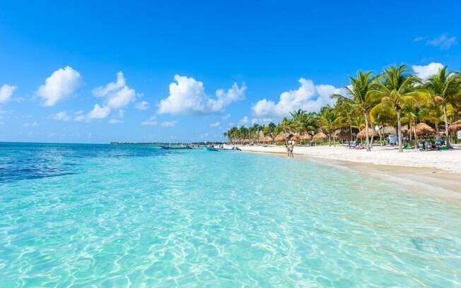 Uma das praias paradisíacas de Cancún