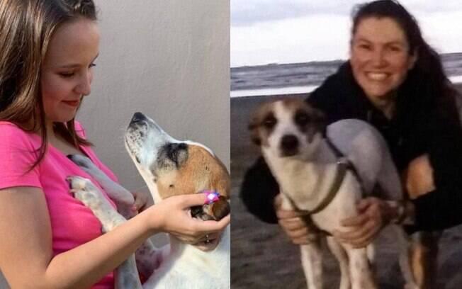 Larissa Manoela e a cadela que doou