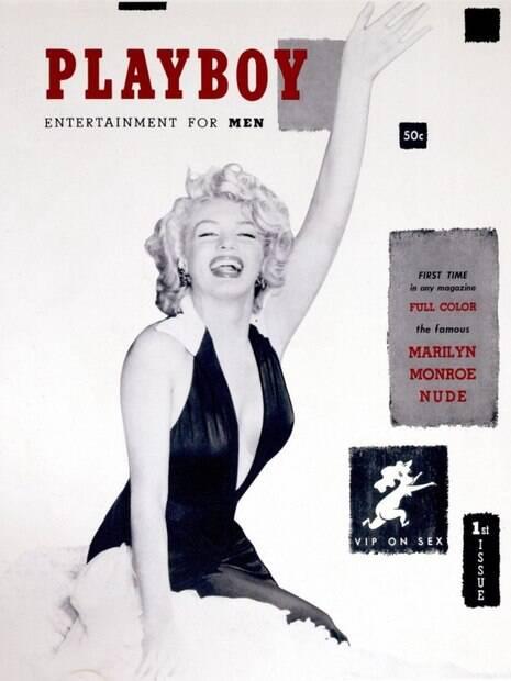 Marilyn Monroe na capa da revista playboy em 1953