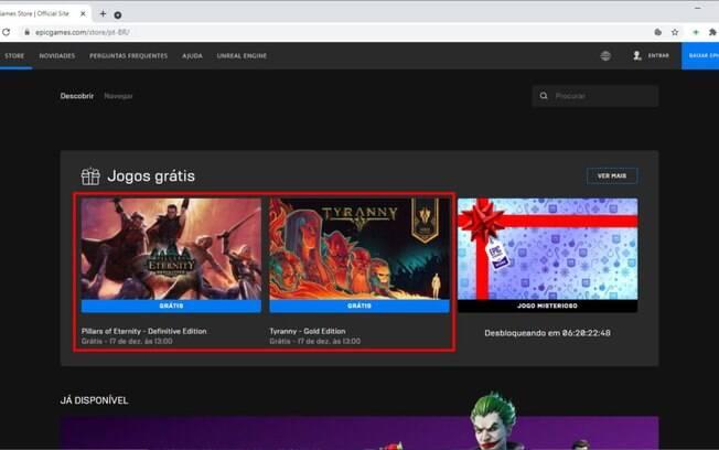 Confira a possível lista de jogos gráis da Epic Games até o fim de 2020