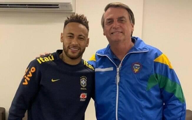 Após o jogo contra o Catar, presidente visitou o atacante brasileiro no hospital