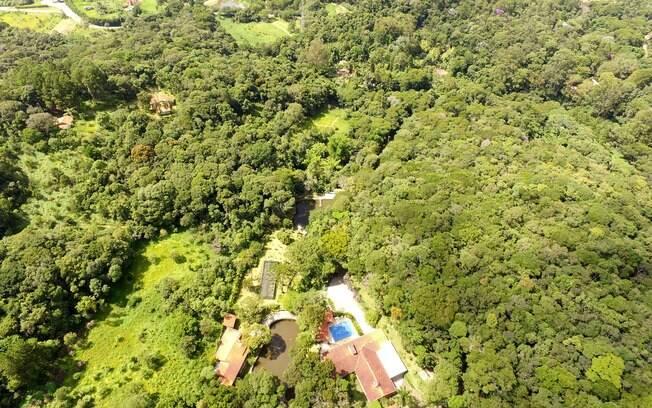 Imagem aérea da propriedade que seria usada pelo ex-presidente da República e sua família