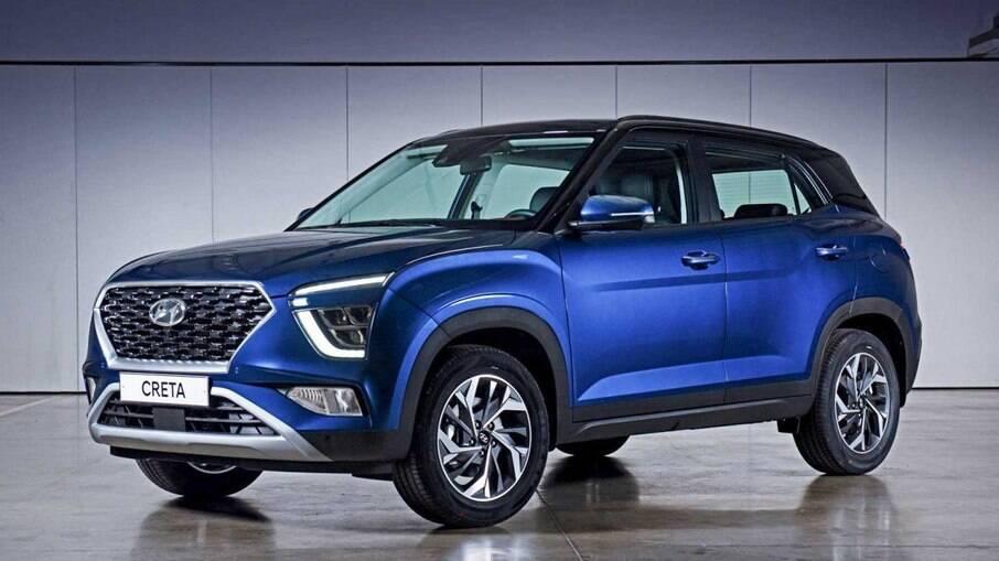 Hyundai Creta 2022 que acaba de ser lançado na Rússia deverá ser igual ao que virá ao Brasil até o início de 2022