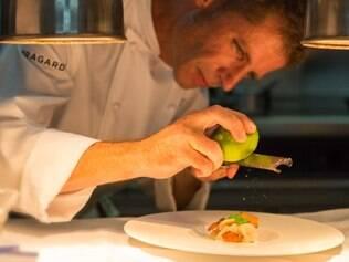 Chef Christophe Gille, do Le Gaïac, restaurante do Hotel Le Toiny