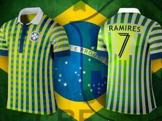 Camisa do Brasil ficou totalmente diferente e xadrez