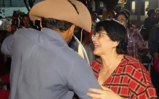 Ministra se divertiu durante a festa, que tinha o nome de