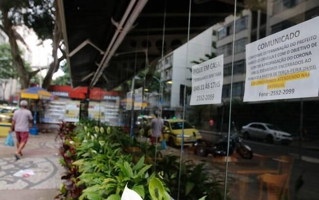 Cidade do Rio está fechada por causa da pandemia de Covid-19