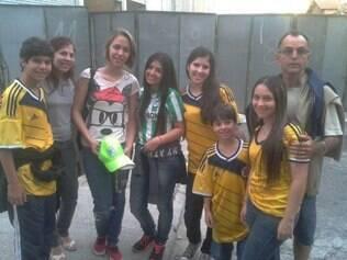 Duas intercambistas de Medellín que assistiram a vitória do Nacional na Colômbia, agora vieram ver o jogo em BH