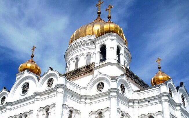 Catedral de Cristo Salvador e suas famosas cinco cúpulas douradas