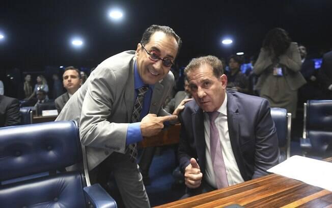 Jorge Kajuru atacou o também senador Vanderlan Cardoso após vitória contra o parlamentar no STF