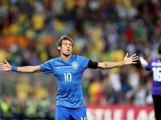Lance da partida entre Brasil x África do Sul, no Estádio Soccer City, em Joanesburgo.  Na foto: Neymar  FOTO: Jefferson Bernardes/VIPCOMM