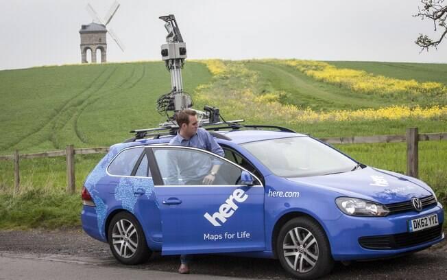 Carro usado pela Nokia para mapear cidades e incluí-las no Here Maps