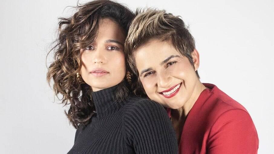 Nanda Costa e Lan Lahn esperam gêmeas