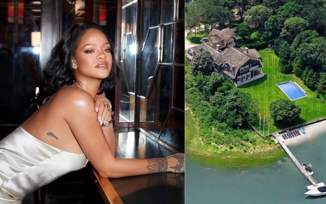 Mansão alugada por Rihanna para passar o verão já recebeu hóspedes famosos, como as irmãs Kardashians