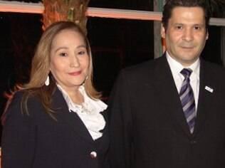Sônia Abrão e o irmão, Elias