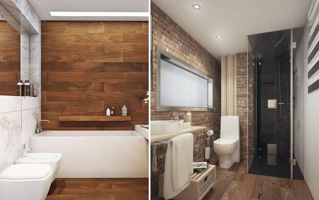 Segundo arquiteto, a madeira pode, sim, aparecer em banheiros; uma ideia é utilizá-la no piso e nas paredes