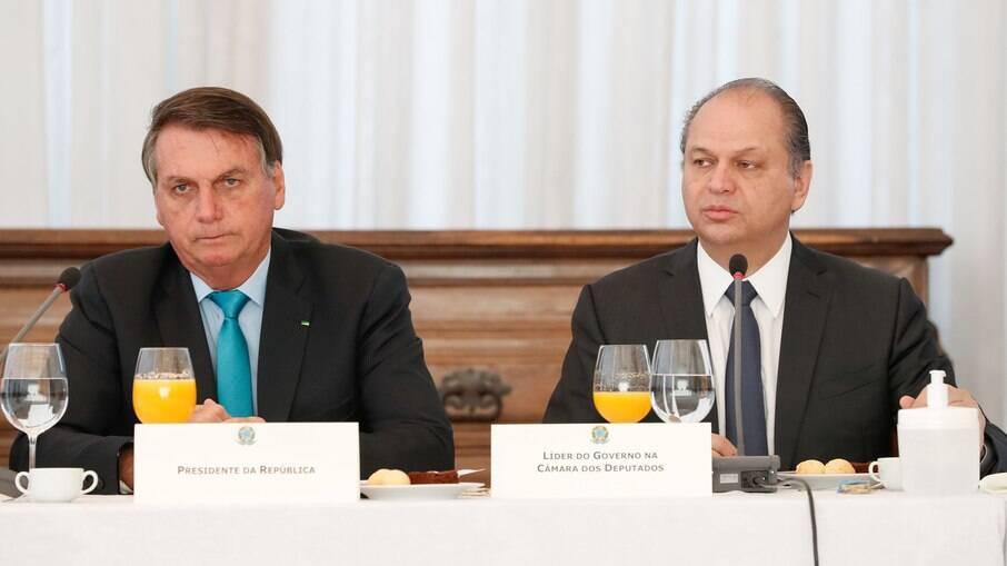 Jair Bolsonaro e deputado Ricardo Barros